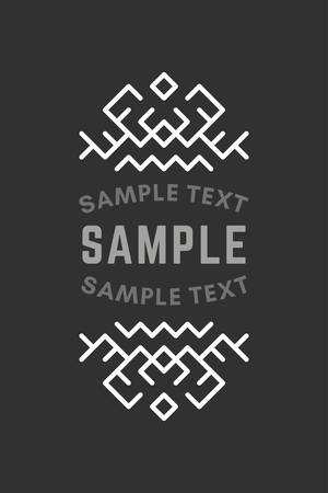 slavic: Slavic or Viking Style Oldfashioned Art Decorative Geometric Vector Frames and Borders. Black and white. Vector Ornaments, Vector Decoration, Line Ornament, Vector , Vector Labels