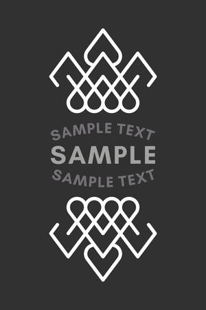 established: Slavic or Viking Style Oldfashioned Art Decorative Geometric Vector Frames and Borders. Black and white. Cupola shaped. Vector Ornaments, Vector Decoration, Line Ornament, Vector , Vector Labels