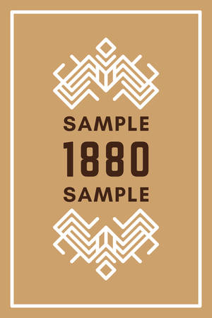 established: Line Art Decorative Geometric Vector Frames and Borders. Brown, White. Book cover. Vector Ornaments, Vector Decoration, Line Ornament, Vector , Vector Labels Illustration