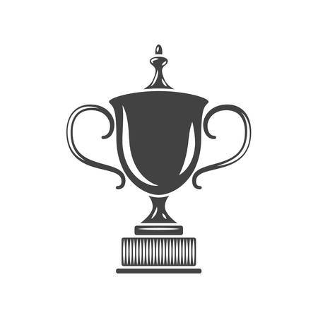 Prize Cup Black icon, logo element, flat vector illustration isolated on white background.