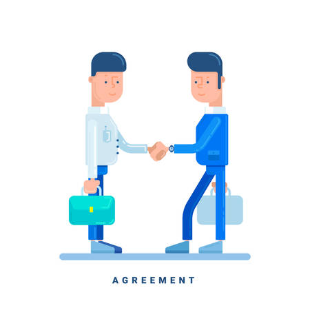Two Businessmen Conclude An Agreement Business Concept For