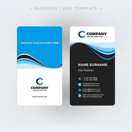 Vertical double sided business card template vector illustration vertical double sided business card template vector illustration stationery design stock vector fbccfo