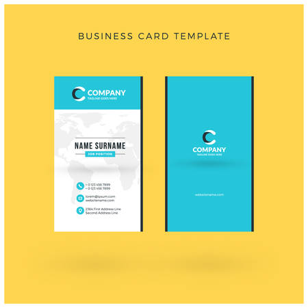 Modern creative vertical double sided business card template modern creative vertical double sided business card template flat design vector illustration stationery cheaphphosting Images