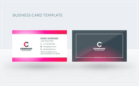 Double-sided creative business card template. Vector illustration. Stationery design Illustration