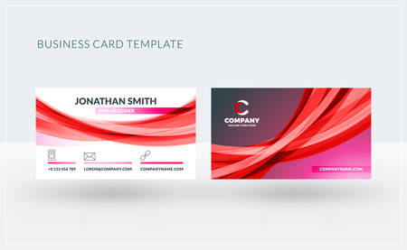 Double-sided creative business card template. Vector illustration. Stationery design Ilustrace