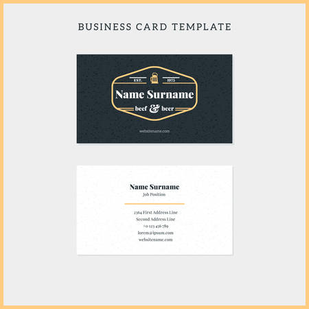 Double sided vintage business card template with retro typographic double sided vintage business card template with retro typographic and black textured background vector maxwellsz