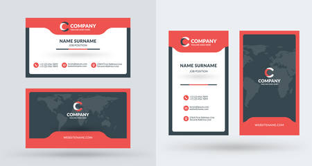 Double sided creative business card template portrait and landscape double sided creative business card template portrait and landscape orientation horizontal and vertical accmission