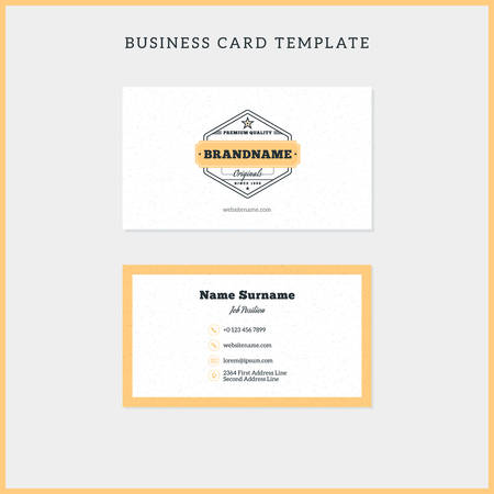 Double Sided Vintage Business Card Template With Retro Typographic