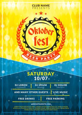saturday night: Oktoberfest beer festival banner.