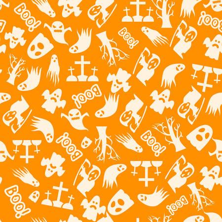 autumn background: Halloween seamless vector pattern background design Illustration
