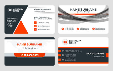 Set of 4 business card templates