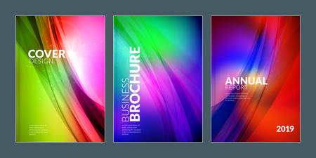 Business brochure cover design templates. Modern business flyer or poster with abstract colorful background