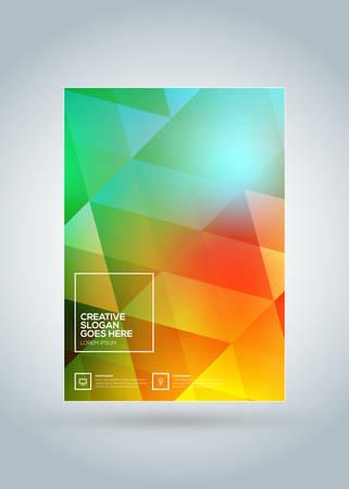 Modello di progettazione copertina brochure aziendale. Manifesto di affari moderni. Sfondo colorato astratto