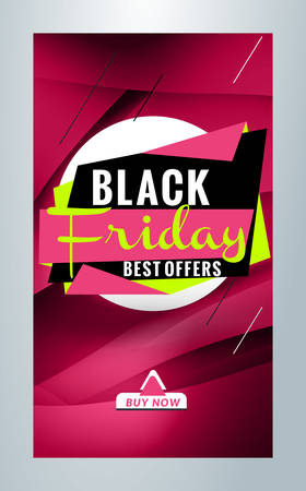 Black Friday Sale promotion. Editable templates for social media stories.