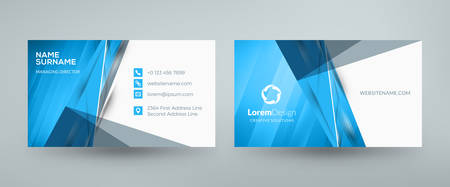 Creative and clean corporate business card template. Vector illustration. Stationery design Illusztráció
