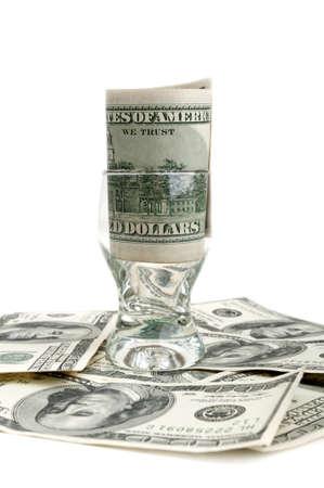 dolar: DOLAR en una clase aislada en un fondo blanco