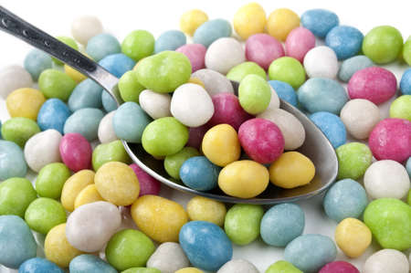 lots of colorful candy on a background photo