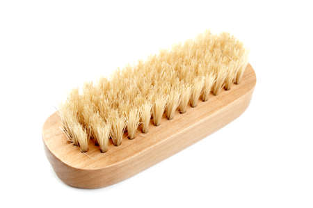 bath brush isolated on a white background