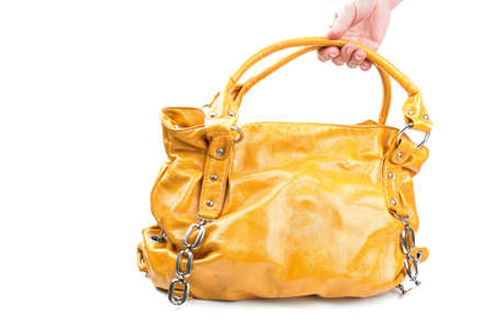 fashion yellow bag isolated on a white background Stock Photo - 9674977