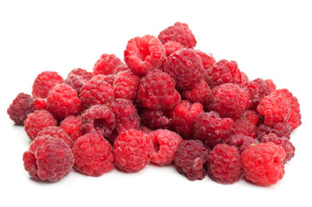 fresh raspberry isolated on a white background photo