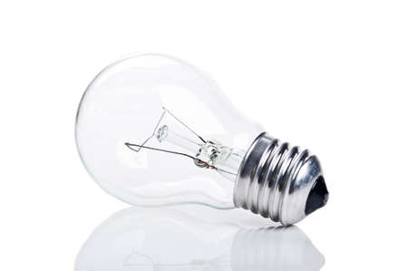 one bulb lamp isolated on a white background