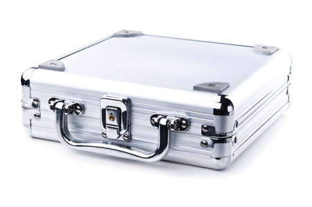business metal case isolated on a white background photo
