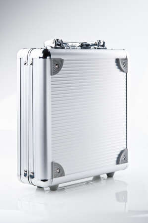 business metal case on a white background photo