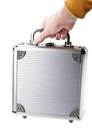 woman holding a briefcase photo