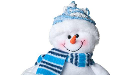 bonhomme de neige: bonhomme de neige joyeux isol� sur un fond blanc