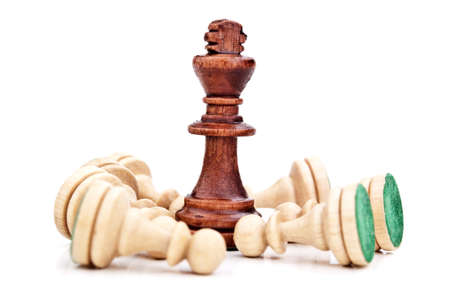 king chess piece isolated on a white background photo
