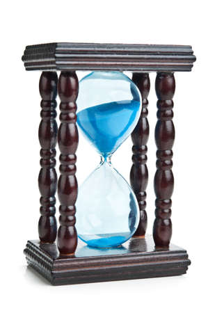 retro hourglass isolated on a white background photo