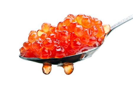 red caviar isolated on a white background Stock Photo - 12630411