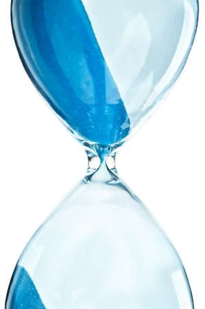 retro hourglass isolated on a white background
