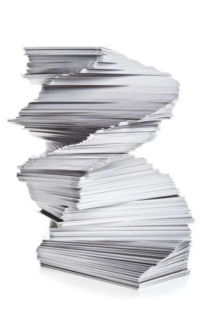 stack of cards isolated on a white background