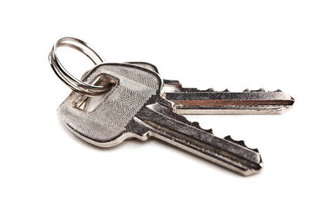 two keys isolated on a white background Stock Photo - 13507620