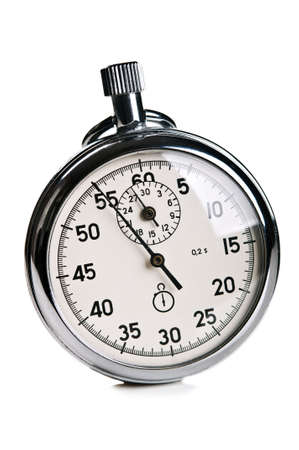 retro stopwatch isolated on a white background photo