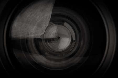 사진 카메라 렌즈 배경의 근접 촬영