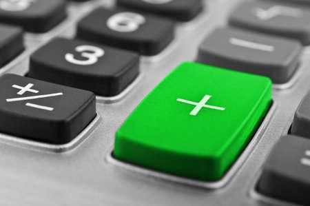 Closeup del pulsante calcolatrice su uno sfondo Archivio Fotografico - 13509234
