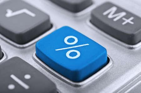 contabilidad: primer plano de bot�n de la calculadora en un fondo Foto de archivo