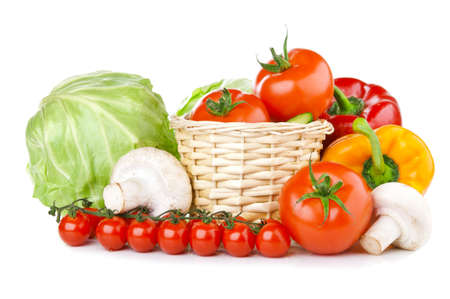 fresh vegetables isolated on a white background photo