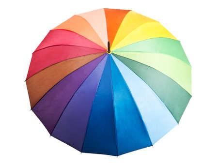 beach rain: colored umbrella isolated on a white background
