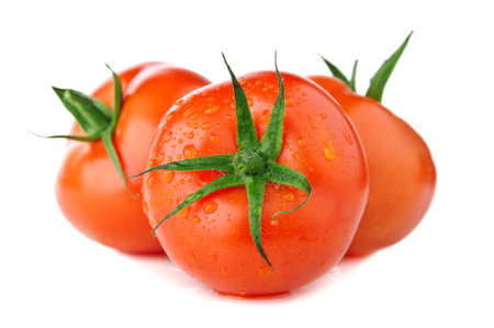 fresh tomatoes isolated on a white background photo