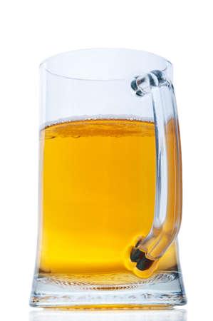 Mug with beer isolated on white background Stock Photo - 14062009