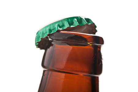 closeup of beer bottle isolated on white background Stock Photo - 14062306