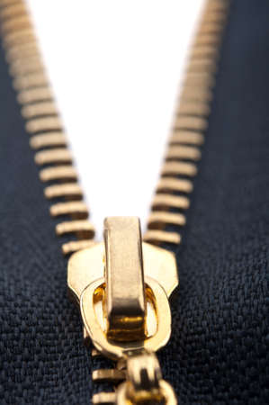 closeup of zipper on background photo