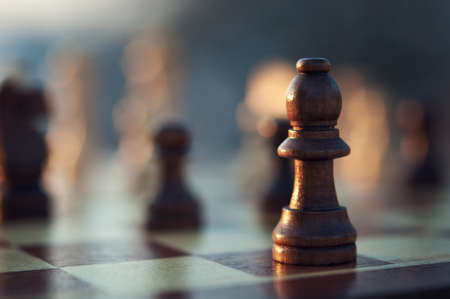 chess pieces on a background