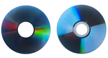 dvd disc isolated on white background  Image was made up of several photo  photo