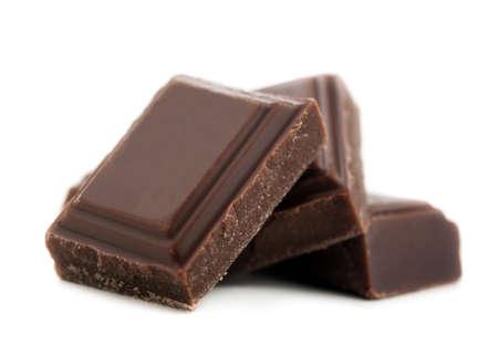 흰색 배경에 고립 된 초콜릿 바 스톡 콘텐츠