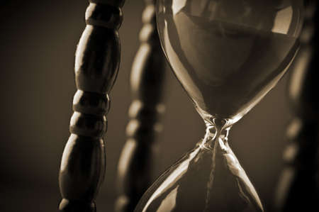 close up of hourglass clock Stock Photo