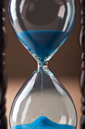 close up of hourglass clock photo